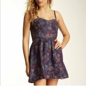 Free People Jacquard Floral Corset Dress